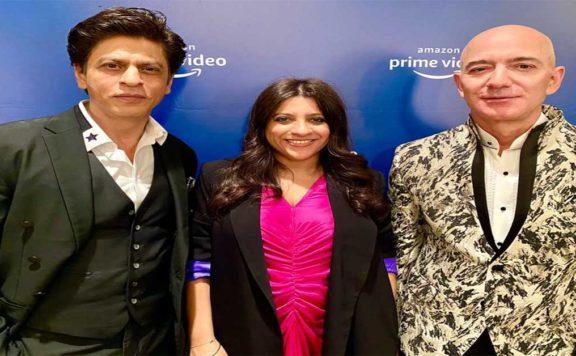 ShahRukh Khan meets Jeff Bezos